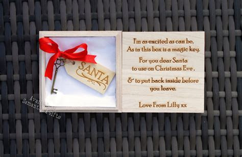 Personalised Santa's Magic key in wooden box   Engraved