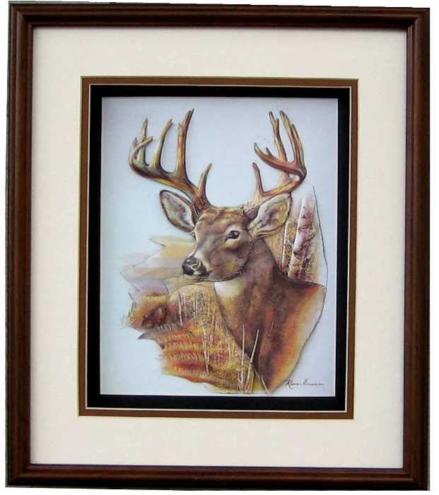 Shadow Box Frame Sb 1012 Pecan Brown Size 12x14 For 8x10 Picture 8 8101