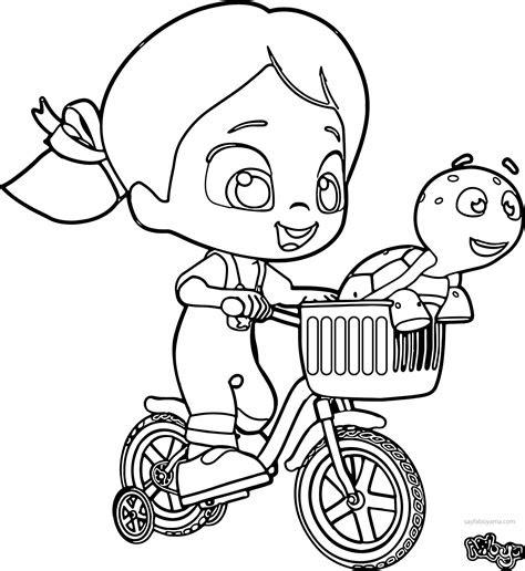 niloya tospik ile bisiklette geziyorlar boyama sayfasi