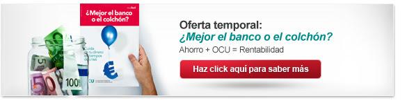 Oferta temporal: ¿Mejor el banco o el colchón?