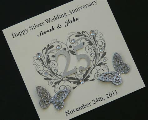 anniversary invitations : 25th silver wedding anniversary