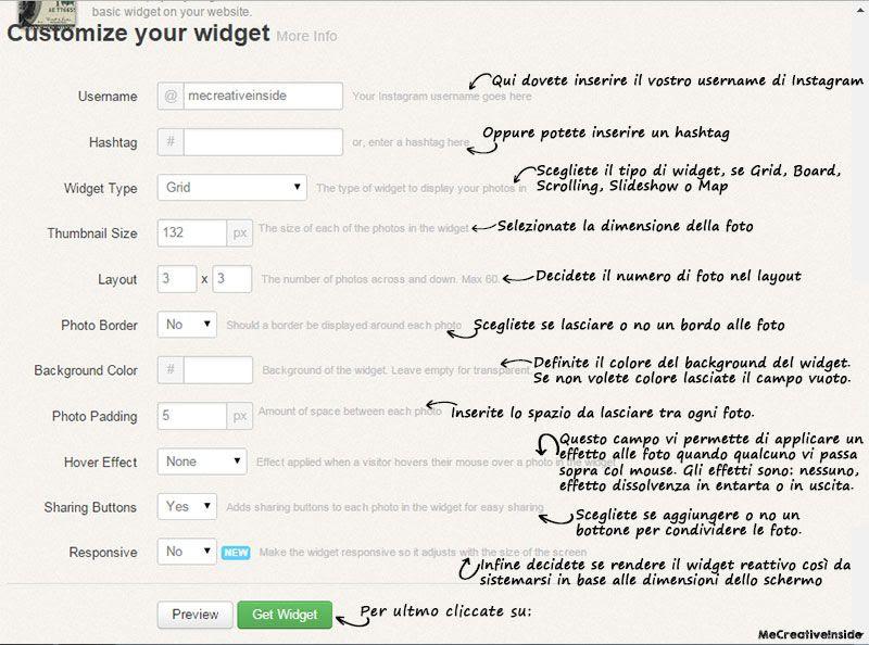 widget instagram, Blogger