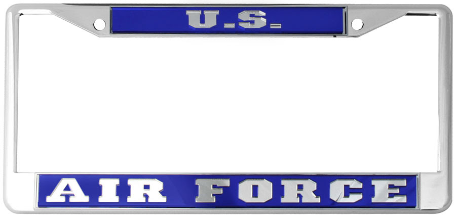 Us Air Force Mirrored Inlaid Plastic License Plate Frame North Bay