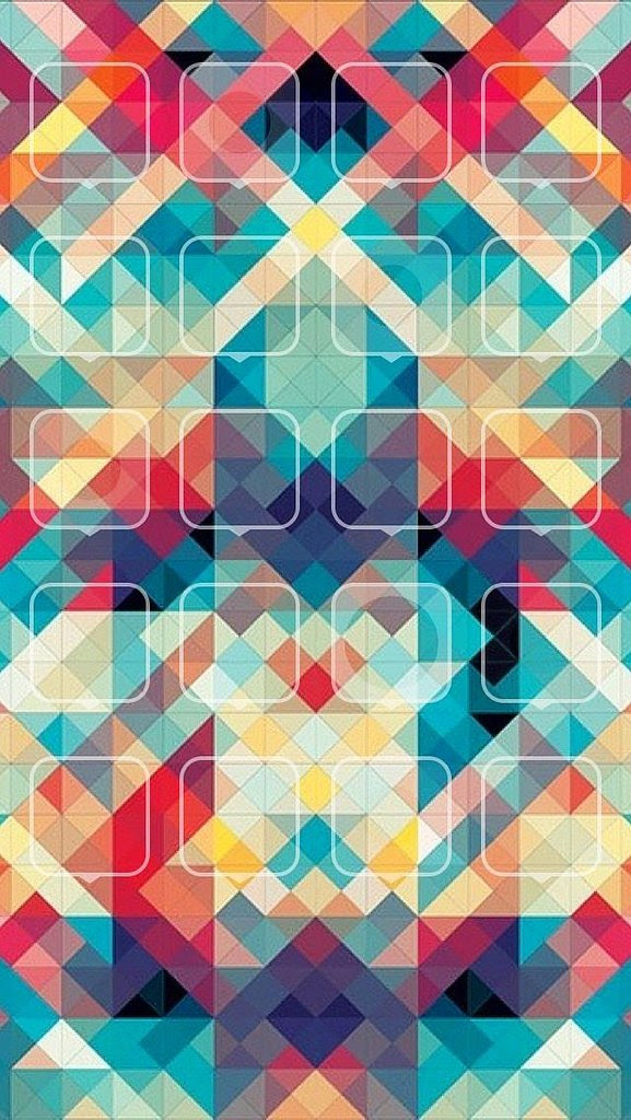 Geometric Squares | 30+ Pretty iPhone Wallpapers That Don ...
