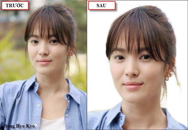 Dùng Photoshop cắt hình về kích thước quy định để làm hình thẻ (hình Song Hye Kyo).