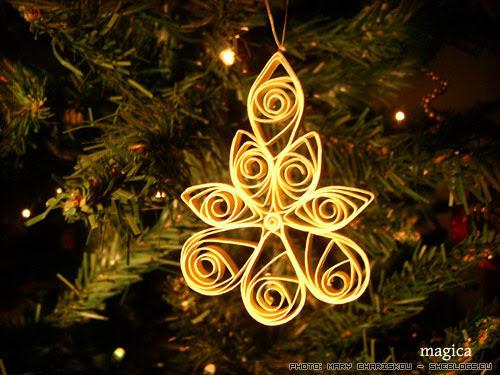 xmas ornament quiling Χριστουγεννιάτικα στολίδια με την τεχνική quilling