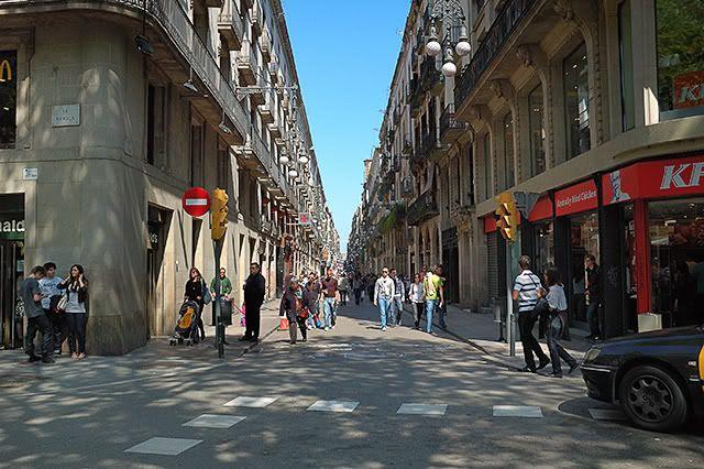 Ferran Street As Seen From La Rambla, Barcelona [enlarge]