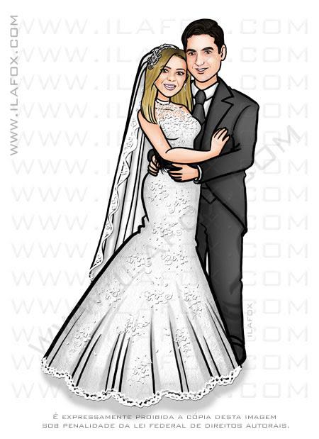 caricatura casais, caricatura noivos, caricatura para casamento, caricaturas bonitas, Pará, by ila fox
