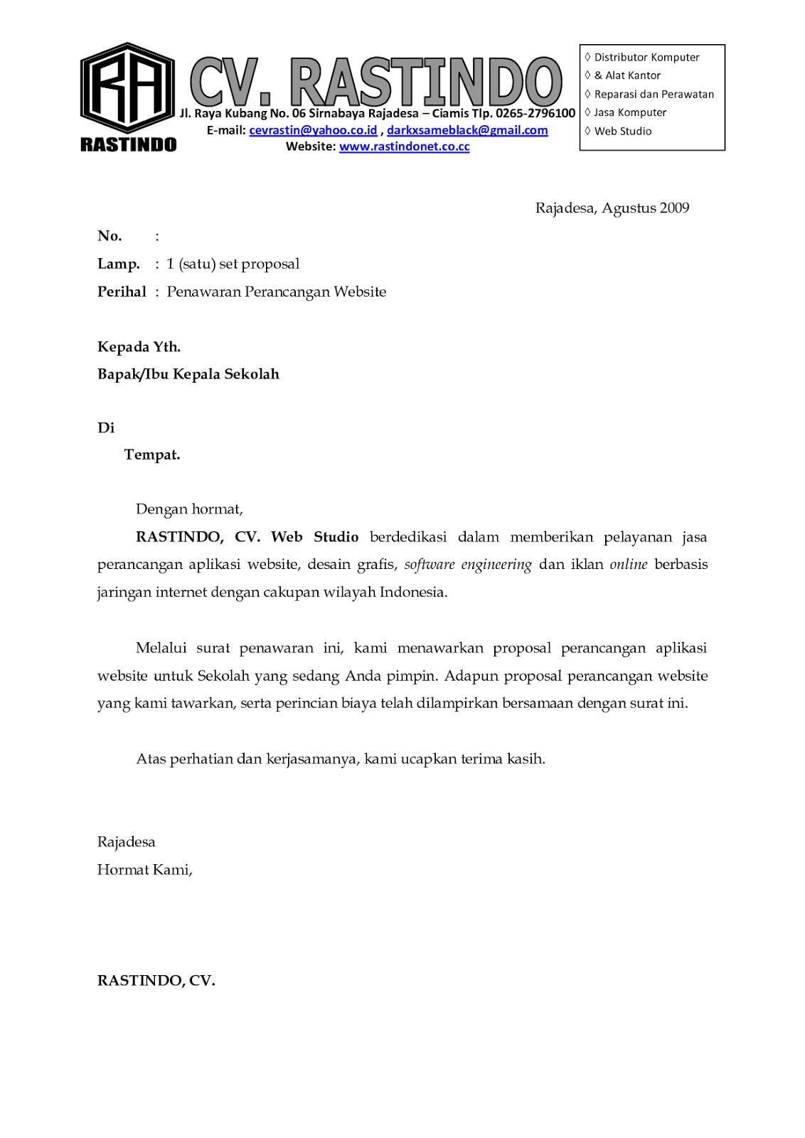contoh application letter akuntansi