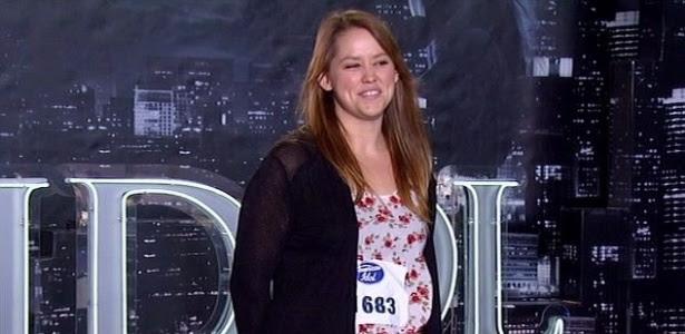 Jane Carrey, filha de Jim Carrey, participa de American Idol (22/1/12)