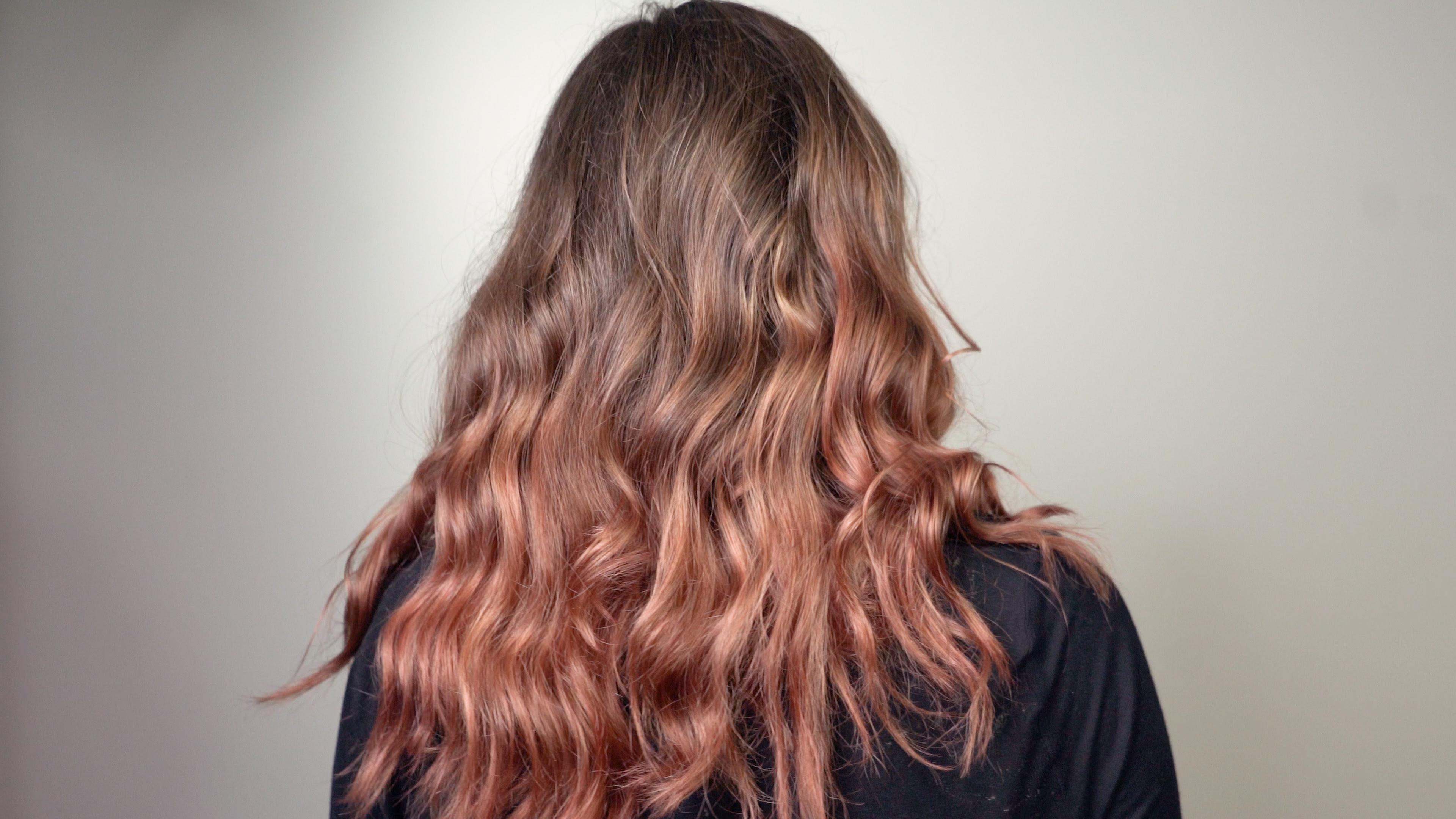 Rose Gold Deep Treatment on Dark Blonde Hair • The oVertone Haircare Blog: Must-See Fantasy Hair ...