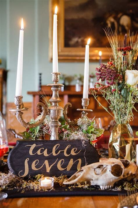 gothic wedding ideas   Table Names & Numbers   Gothic