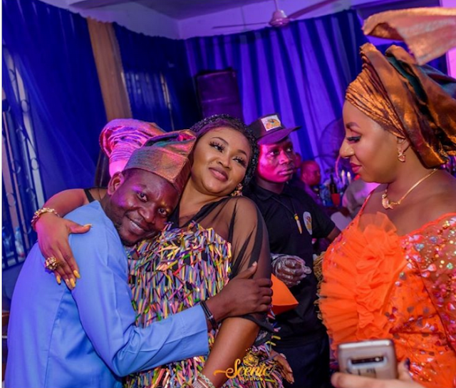 This Funny Photo Of Actor Afeez Owo & Wife Mide Martins (Best Caption Wins)