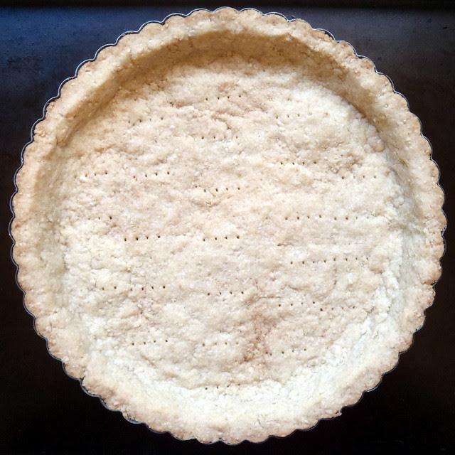 Pine Nut Tart Crust - baked