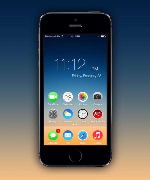 How To Get iOS 7 Lock Screen Clock As Widget On Home ...