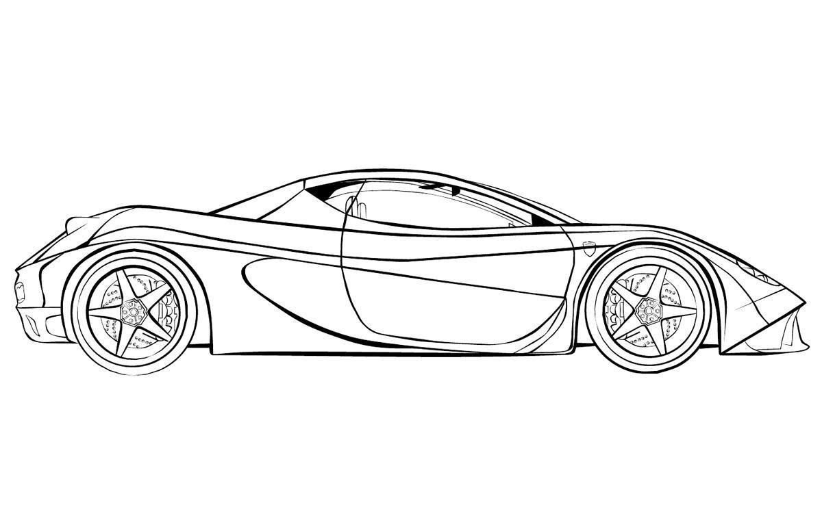 Beim Ausmalen kann man das Verständnis für Farben und Formen verbessern Hier können Sie Ausmalbilder – Ferrari kostenlos ausdrucken Malvorlagen für Kinder