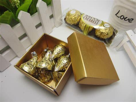 european elegant pearly square shape wedding favor box