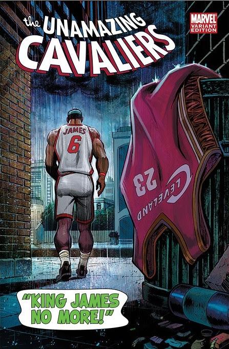 cavs comic cover