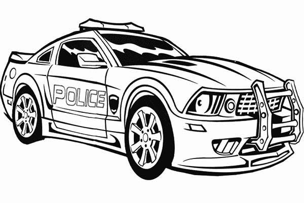 66 Top Colouring Pages Police Cars Pictures