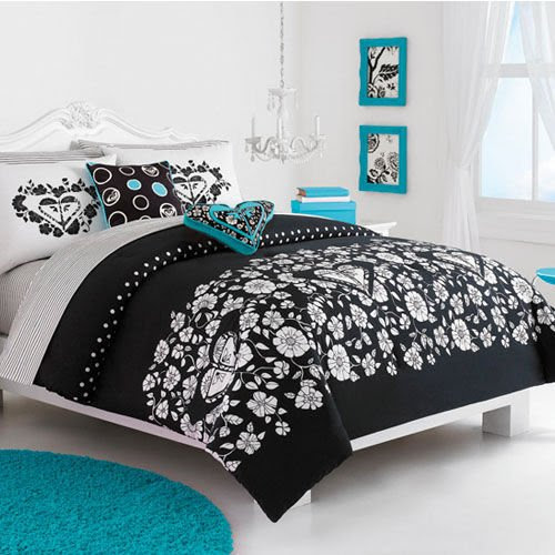 black and white and turquoise bedroom ideas
