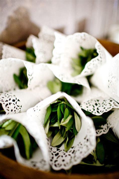 Olive Wedding Confetti and Decoration Ideas