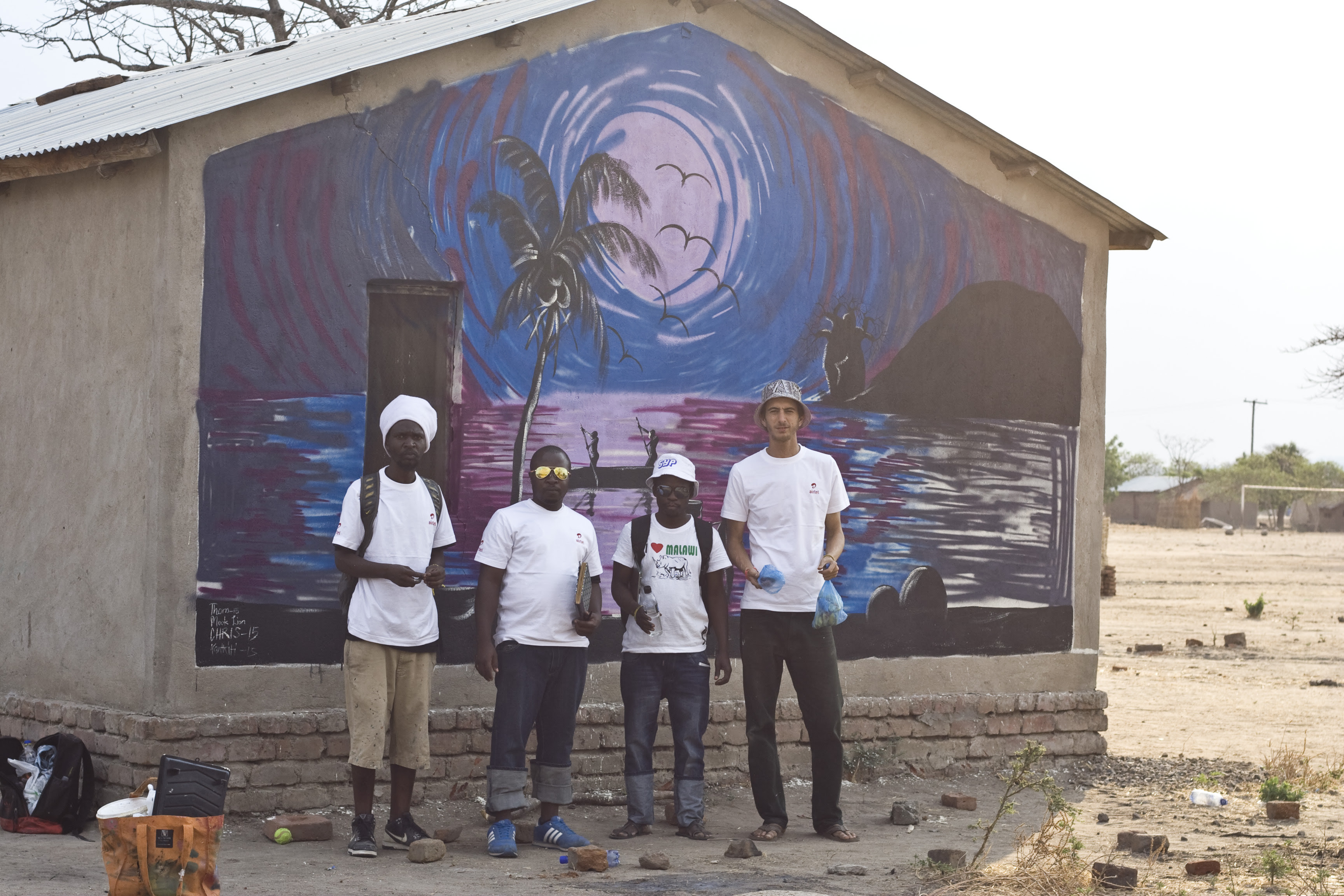 Africa Mural Art In Malawi With Mook Lion Graffiti South Africa