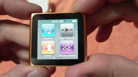apple ipod nano  gb orange unboxing video youtube