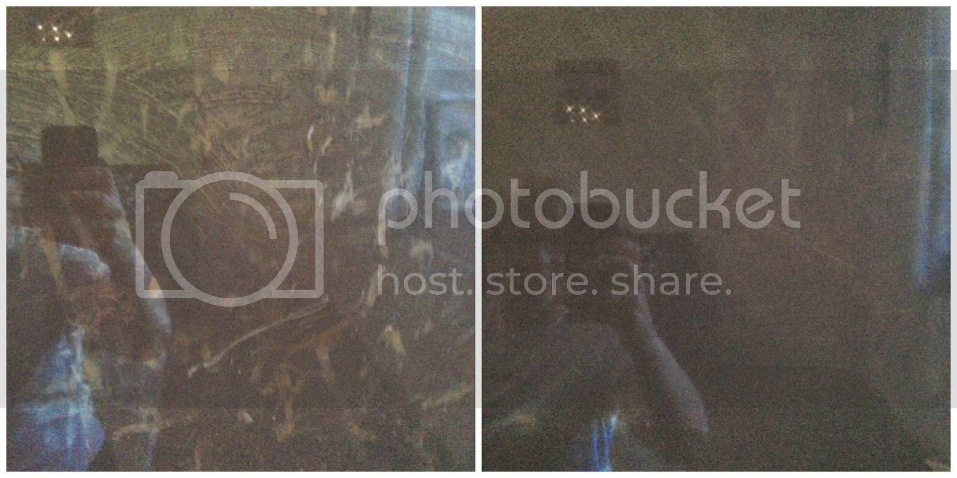 Before and after TV screen using e-cloth
