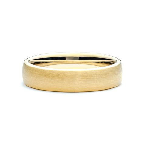 yellow gold brushed mens band jm edwards jewelry
