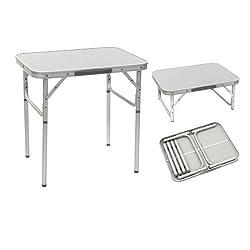 BoCamp Aluminium Tisch mit Teleskopbeinen