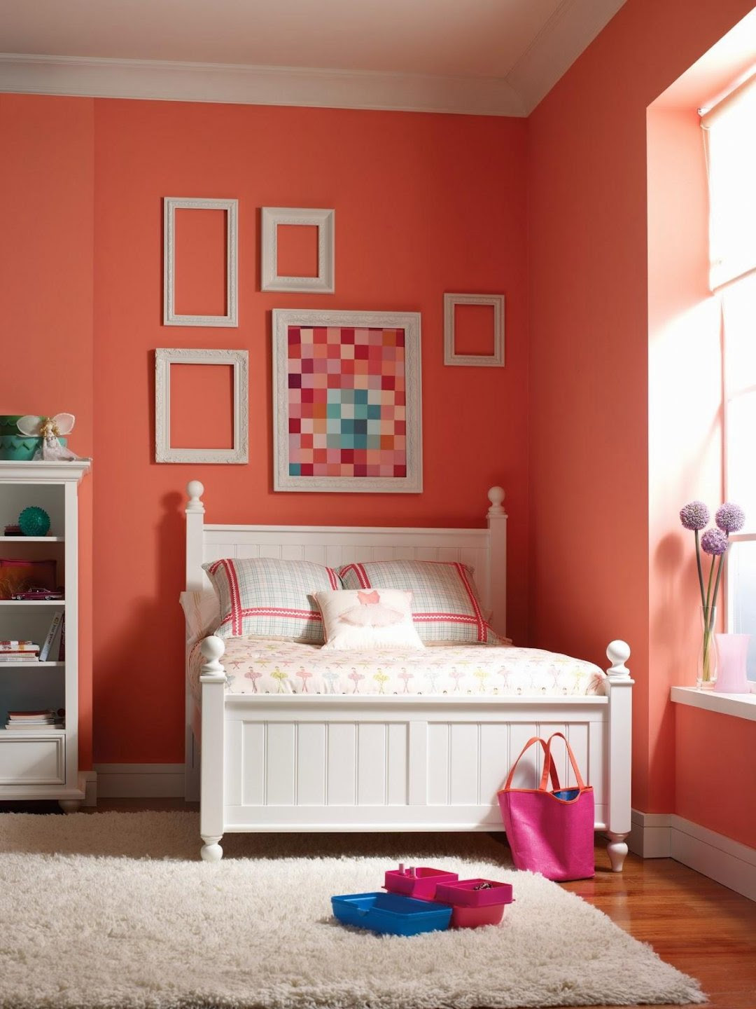 bright colored bedrooms