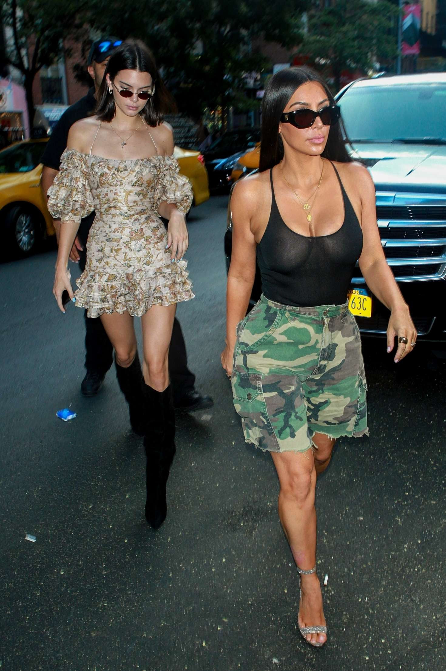 Kim Kardashian and Kendall Jenner Out in New York City