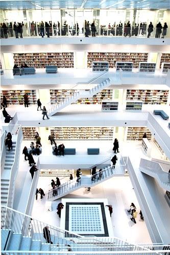 Library, Stuttgarter Stadtbibliothek por Wackelaugen
