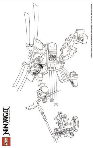 ausmalbild ninjago aspheera  ausmalbild kostenlos