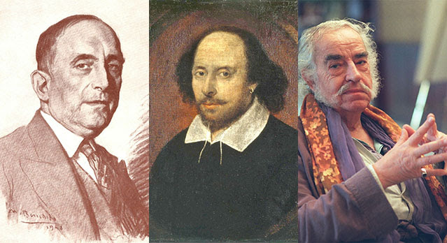 Luis Astrana Marín, William Shakespeare y Agustín García Calvo.