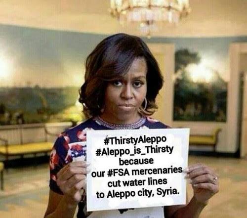 To Χαλέπι διψάει γιατί ο άντρας μου πληρώνει τους μισθοφόρους στη Συρία