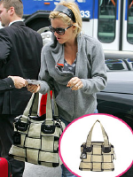Jenny McCarthy carrying Fendi handbag