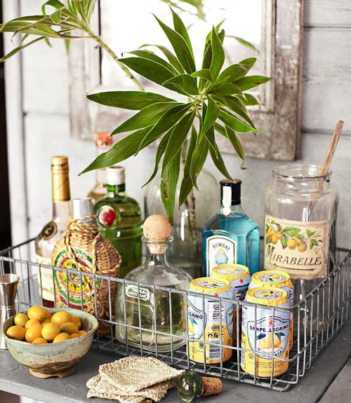 I want a bar cart to make fancy summer cocktails at.
