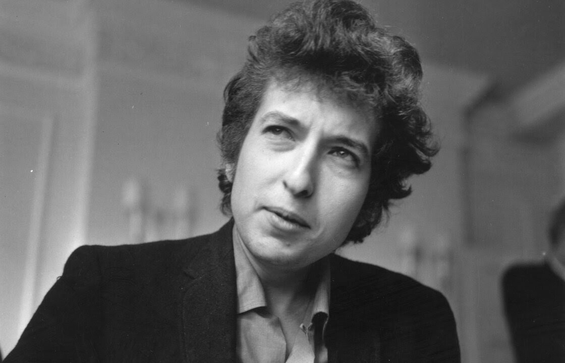 American folk pop singer-songwriter Bob Dylan, seen in April 1965.