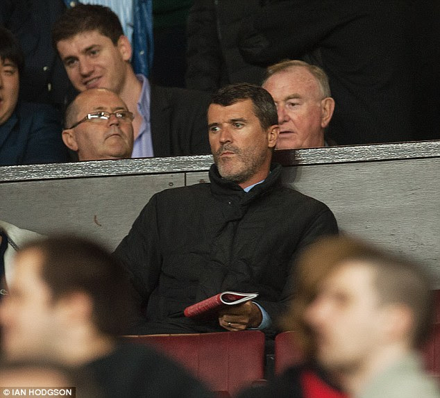 Not enjoying the match, Roy? United legend Keane was in the stands watching the action
