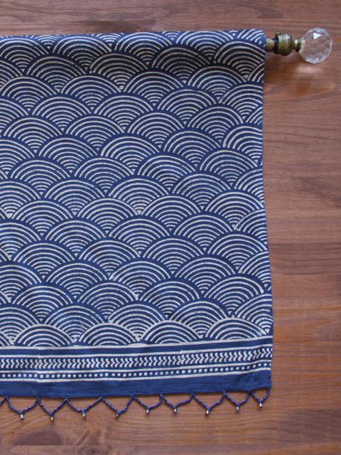 Navy Blue Indigo Blue Bedding and Table linens, Combine Zen