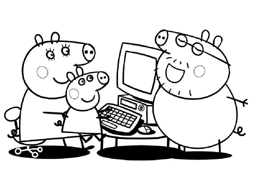 Peppa Pig Picbook Ciff Ciaff Az Coloriage