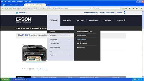 downloadepson workforce wf  printerdriver