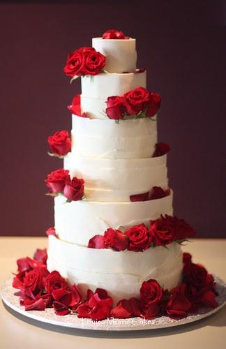 White chocolate wrap cake by Louisa Morris Cakes