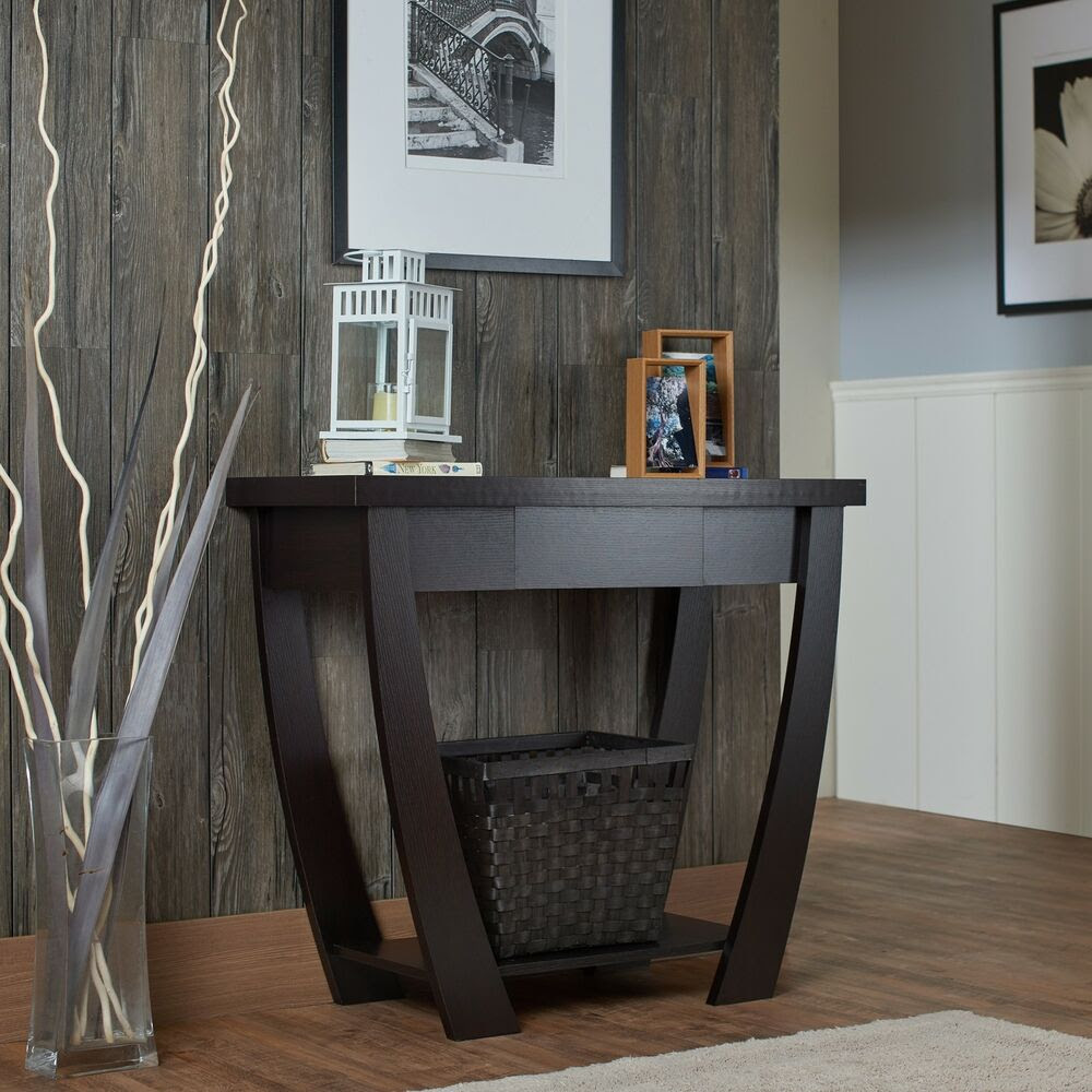 Console Table for Entryway Modern Black Narrow Storage ...