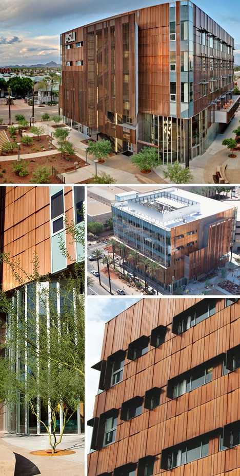 copper-clad ASU Nursing College building