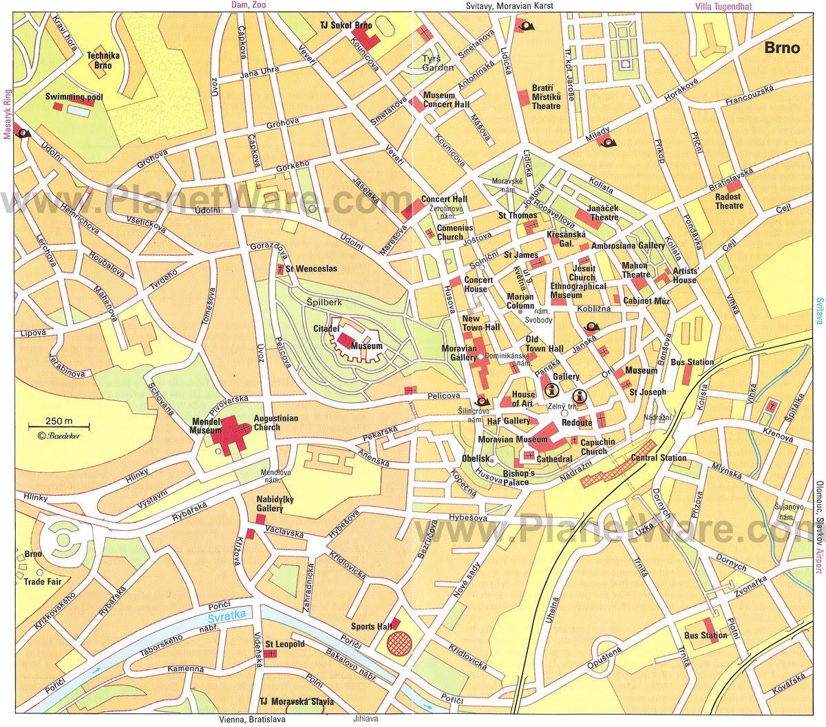 Resultado de imagen de Brno map