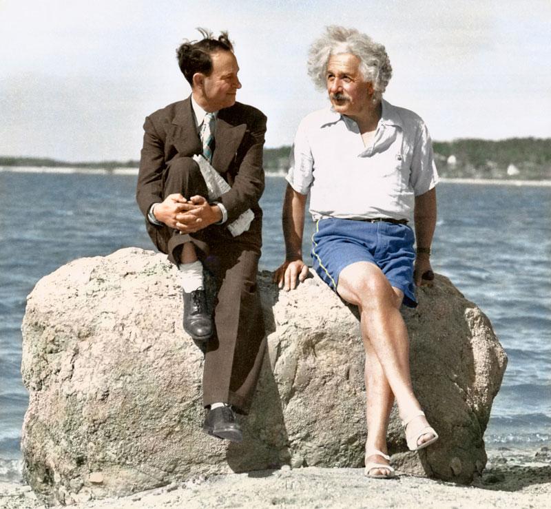 Albert Einstein, Nassau Point, Long Island, New York, 1939