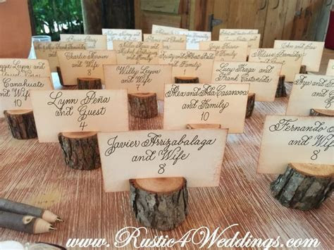 25  best ideas about Rustic Place Card Holders on