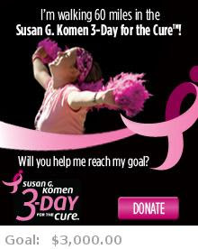 Help me reach my goal for the Susan G. Komen San Francisco Bay Area 3-Day for the Cure!